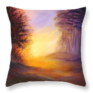 Colors Of The Morning Light Throw Pillow by Lilia D