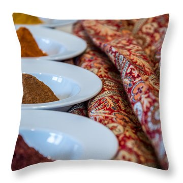 Colors Of The Orient - By Sabine Edrissi Throw Pillow