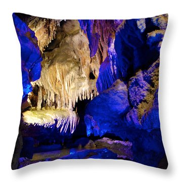 Colors Of The Pool Throw Pillow
