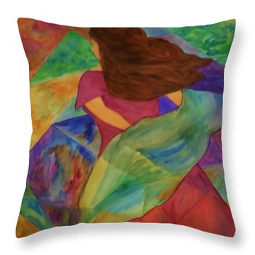 Colors Of The Wind Throw Pillow by Christy Saunders Church