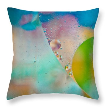 Colors Of The Wind Throw Pillow by Sara Frank