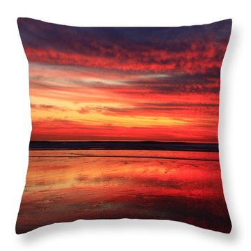 Throw Pillow featuring the photograph Encinitas Twilight Tide by John F Tsumas