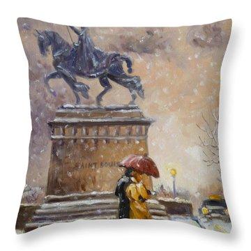 Colors Of Winter - Saint Louis Throw Pillow