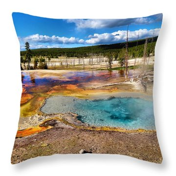 Colors Of Yellowstone National Park Throw Pillow