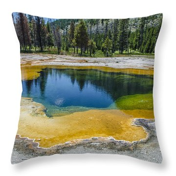 Colors Of Yellowstone Throw Pillow