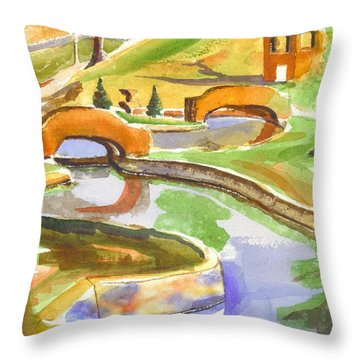 Colors On A Cloudy Day II Throw Pillow by Kip DeVore