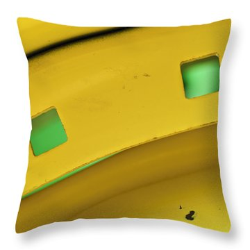 Colors On A Curve Throw Pillow