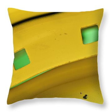 Colors On A Curve Throw Pillow by Christi Kraft