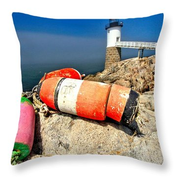 Colors On The Rocks Throw Pillow by Adam Jewell