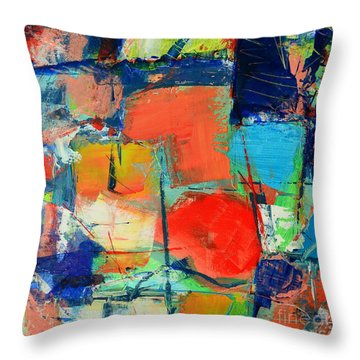Colorscape Throw Pillow by Ana Maria Edulescu