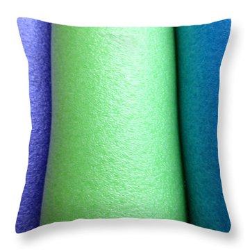 Colorscape Tubes A Throw Pillow