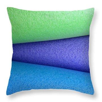 Colorscape Tubes B Throw Pillow