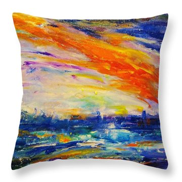 Colorscapes #4 Throw Pillow by Helen Kagan