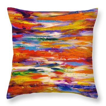 Colorscapes #5 Throw Pillow by Helen Kagan