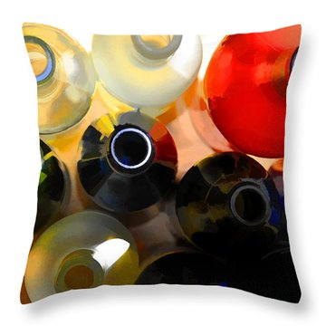 Colorsplash Throw Pillow by Jan Amiss Photography