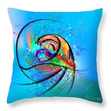 Colorwave Throw Pillow