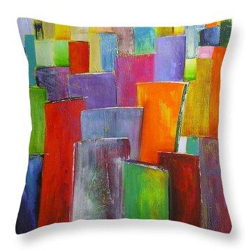 Colour Block 3 Painting Throw Pillow