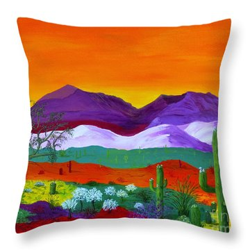 Colour Explosion Throw Pillow