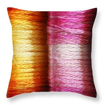 Colour Me Happy Throw Pillow