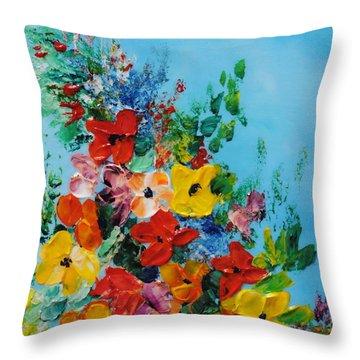 Colour Of Spring Throw Pillow by Teresa Wegrzyn
