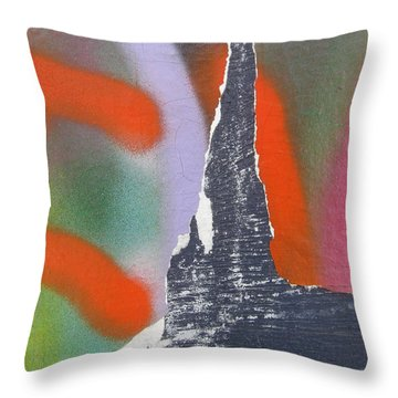 Colour On Wall Throw Pillow