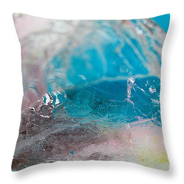 Coloured Ice Creation Print #4 Throw Pillow