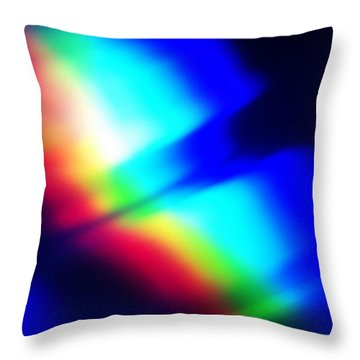 Throw Pillow featuring the photograph Coloured Light by Martin Howard