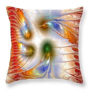 Colourful Emotions Throw Pillow by Anastasiya Malakhova