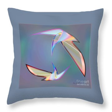 Colourful Plumage  2 Throw Pillow by Iris Gelbart