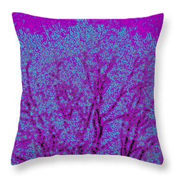 Colourful Silhouette Throw Pillow by Sonali Gangane