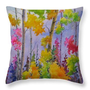Colours Of Fall Throw Pillow by Mohamed Hirji
