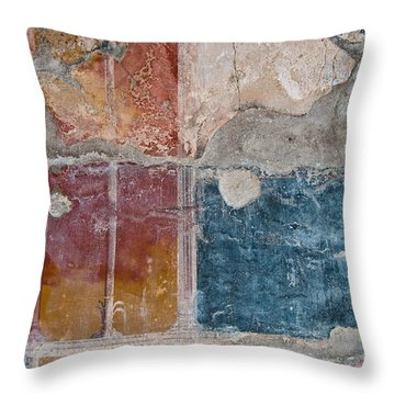 Colours Of Herculaneum Throw Pillow by Marion Galt