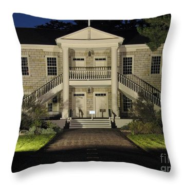 Colton Hall At Night Throw Pillow