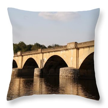 Columbia Bridge Throw Pillow by Christopher Woods