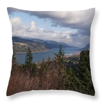 Columbia Gorge Throw Pillow by Belinda Greb