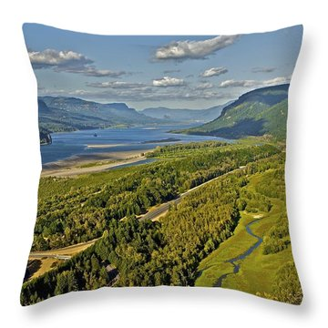 Columbia Gorge Throw Pillow