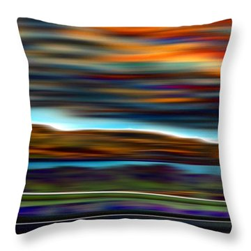 Columbia River 3 Throw Pillow