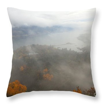 Columbia River Hidden Throw Pillow by Mike  Dawson