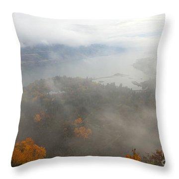 Columbia River Hidden Throw Pillow by Mike  Dawson
