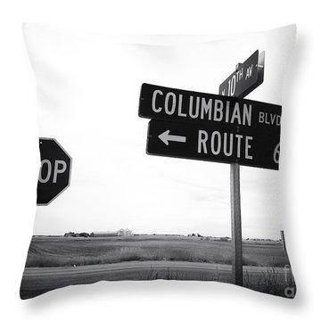 Columbian Boulevard Throw Pillow by John Rizzuto