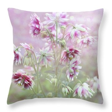 Columbine Beauty Throw Pillow by Elaine Manley
