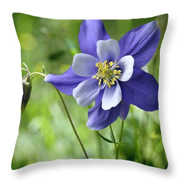 Columbine Card  Throw Pillow