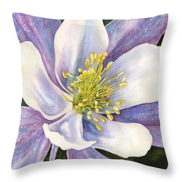 Columbine Closeup Throw Pillow