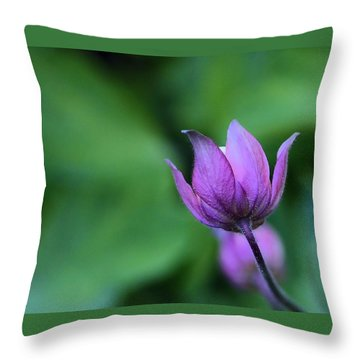 Columbine Flower Bud Throw Pillow