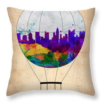 Columbus Air Balloon Throw Pillow