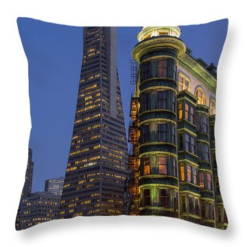 Columbus And Transamerica Buildings Throw Pillow