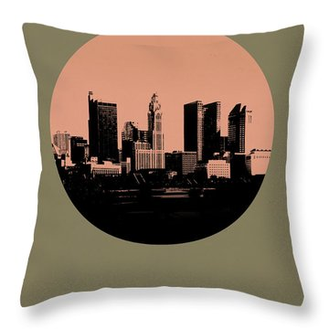 Columbus Circle Poster 1 Throw Pillow