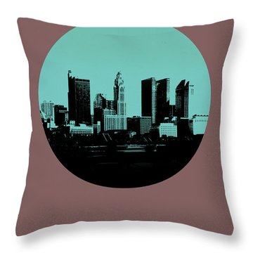 Columbus Circle Poster 2 Throw Pillow