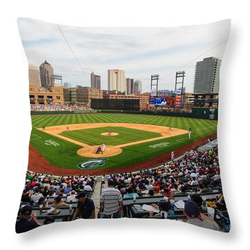 D24w-295 Columbus Clippers Photo Throw Pillow