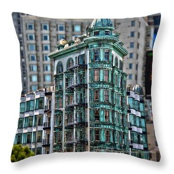 Columbus Tower In San Francisco Throw Pillow